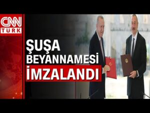 Cumhurbaşkanı Erdoğan ve Aliyev'den Şuşa'da tarihi imza